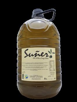 Vins i Olis Suñer – Olis de Catalunya - Oli d'oliva extra verge procedent d'un delicat cupatge fruit de les varietats arbequina, fulla de salze, farga i empeltre